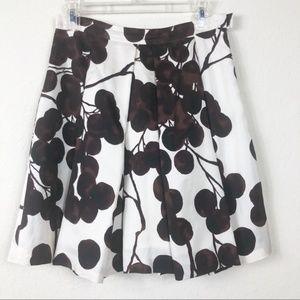 Yoana Baraschi cream/brown silk skirt